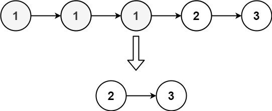 leecode-82-删除链表中的重复元素II